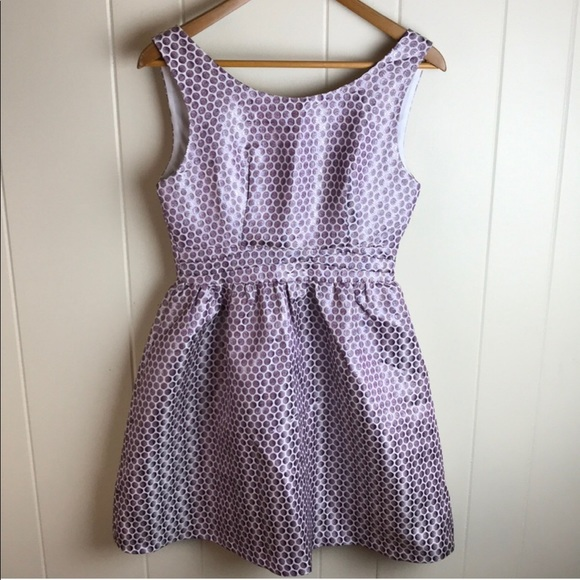 Esley Dresses & Skirts - Esley Metallic Polka Dot Sleeveless Party Dress